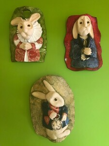 White Rabbit Wall Plaques